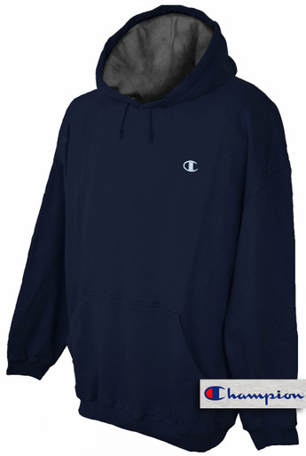 Big & Tall Men's NAVY Pullover Hoodie by Champion