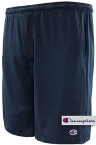 Navy Champion Lightweight Cotton Jersey SHORTS