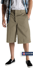 Dickies Khaki Multi-Pocket Work Shorts Long Length