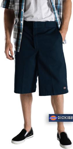 Dickies Navy Multi-Pocket Work Shorts Long Length