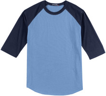 Baseball 3/4 Sleeve Raglan T-Shirt 3XL Blue/Navy #590A