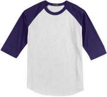 mens big and tall t shirts white purple raglan