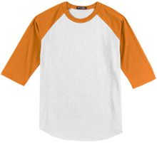 Baseball 3/4 Sleeve Raglan T-Shirt 3XL - 6XL White/Gold #590M