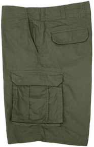 Big Men's True Nation Cotton Cargo Shorts Snap Buttons Sizes Olive gallery image