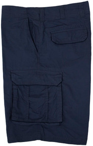 Big Men's True Nation Cotton Cargo Shorts Snap Buttons Sizes Navy gallery image