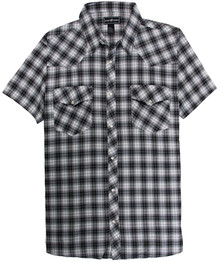 Western Plaid Shirt BLACK