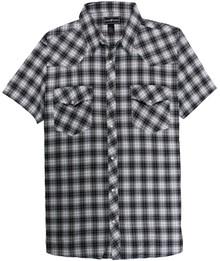 mens big and tall shirts Western Plaid BLACK 5X