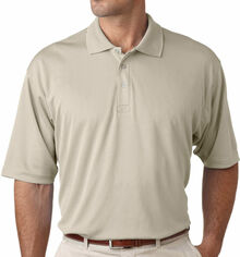 Big Men's UltraClub Cool-n-Dry Polo Light Khaki 2XL - CLEARANCE