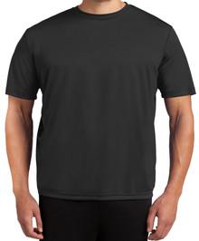 Tall Men's Moisture-Wicking Performance T-Shirt 2XLT 3XLT 4XLT Solid Black Front