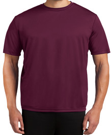 Tall Men's Moisture-Wicking Performance T-Shirt 2XLT 3XLT 4XLT Solid Burgundy Front