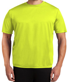 Tall Men's Moisture-Wicking Performance T-Shirt 2XLT 3XLT 4XLT Solid Bright Yellow Front