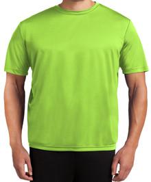 Tall Men's Moisture-Wicking Performance T-Shirt 2XLT 3XLT 4XLT Solid Lime Front