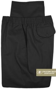Big & Tall Men's Falcon Bay Casual Twill Pants FULL ELASTIC Black - Gallery