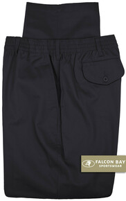 Big & Tall Men's Falcon Bay Casual Twill Pants FULL ELASTIC Navy - Gallery