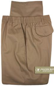 Big & Tall Men's Falcon Bay Casual Twill Pants FULL ELASTIC Khaki - Gallery