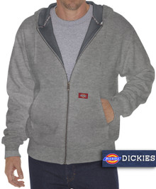 gray zip hoodie with warm thermal lining