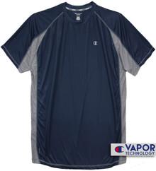 Big & Tall Men's Vapor Performance T-Shirt Navy Gray