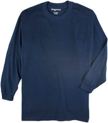big and tall men navy long sleeve 3X