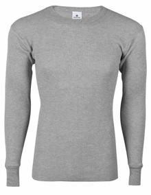 Big Men's Thermal Long Johns Underwear SHIRT   Gray