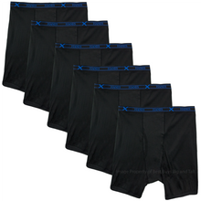 Big Men's X-TEMP Underwear LONG Boxer Briefs 4XL 5XL 6XL Hanes Ultimate 6-Pack