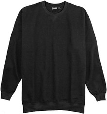 Big & Tall Men's Crewneck Sweatshirt Heavyweight 3XL - 10XL 2XLT - 6XLT BLACK