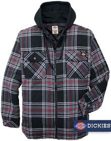 Dickies Hooded Flannel Shirt Jacket BLACK