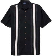 Black Foxfire Casual Shirt with Front Panels