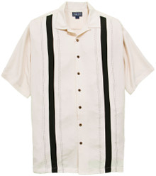 Ivory Casual Shirt with Front Panels by Foxfire