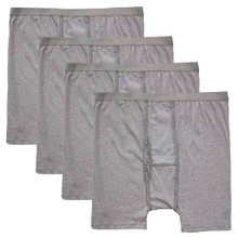4-Pack Gray Big Men's Players Cotton Underwear BOXER BRIEFS