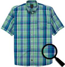 big mens clothing Green plaid 4X