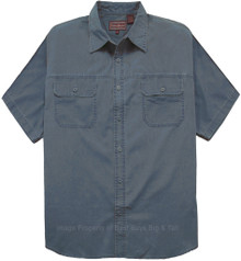 big and tall menswear Blue adventure shirt by Falcon Bay 3X