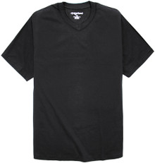 Big Men's Black V-Neck T-Shirt by Greystone