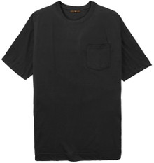 Big Tall Men's BLACK Pocket T-Shirt by Cotton Traders
