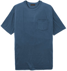 Big Tall Men's dark blue Pocket T-Shirt by Cotton Traders