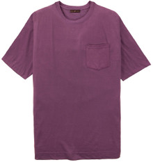 Big Tall Men's purple Pocket T-Shirt by Cotton Traders