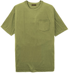 Big Tall Men's Sage/Olive green Pocket T-Shirt by Cotton Traders