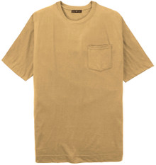 Big Tall Men's taupe Pocket T-Shirt by Cotton Traders