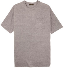 Big Tall Men's heather gray Pocket T-Shirt by Cotton Traders
