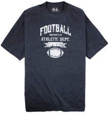 "big and tall Printed T-Shirt ""Football/Athletic Dept"" 4XL 3XLT 4XLT"
