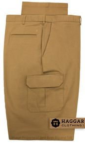 haggar big men's stretch cargo pants - dark khaki