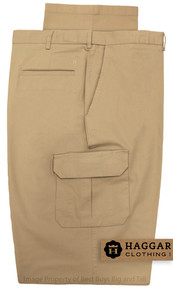 haggar big men's stretch cargo pants - khaki