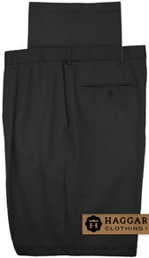 Black Pleated Pants by Haggar for Big & Tall Men