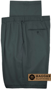 Charcoal Blue Pleated Pants by Haggar for Big & Tall Men