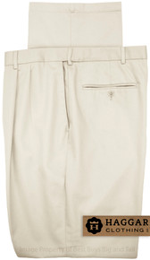 Sand Pleated Pants by Haggar for Big & Tall Men