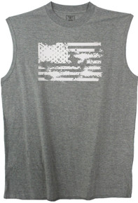 big and tall t-shirt, muscle tee, muscle t-shirt, sleeveless shirt, pajamas, sleepwear, printed t-shirt, american flag, patriotic t-shirt