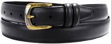 big men's black dress belt by marc wolf