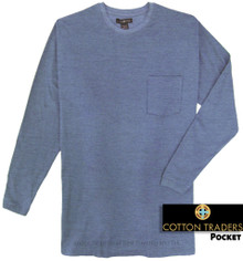 Big & Tall Quality Long Sleeve Pocket T-Shirt