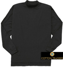 Big & Tall Quality Long Sleeve MOCKNECK T-Shirt