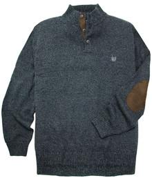Charcoal Chaps Mockneck Twist Sweater