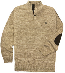 Beige Chaps Mockneck Twist Sweater